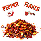 RED PEPPER FLAKES HOT - SWEET 40g - 190g (1.4 - 6.7oz) - DRIED PAPRIKA CHILI