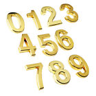 Metal Effect Door Numbers Stickers Room Plate Address Office House Hotel Sign