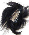 7x12cm Mo&Pu Silk Base  Remy Human Hair Topper Piece Clip in Hair Piece