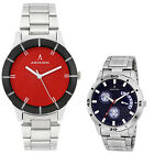 Adixion Men's Waterproof Analog Round Dial Wrist Watch Stainless Steel Strap