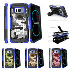 For Samsung Galaxy S8 G950 (2017) Clip Stand Blue Case Gray Camouflage