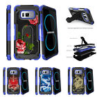 For Samsung Galaxy S8 G950 (2017) Clip Stand Blue Case Affectionate Flowers