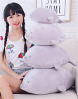 Lovely Pillow Toy For Girls Kids Cartoon Push Stuffed Seal Plush Pillow Toy Grey