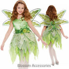 CK721 Fairy Tinkerbell Green Pixie Girls Book Week Peter Pan Fancy Dress + Wings