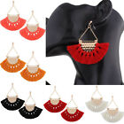 Bohemian Earrings Women Long Tassel Fringe Boho Dangle Earrings Jewelry 6.5cm