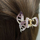 Real 24K yellow gold plated crystal pearl Eco-Friendly medium hair claw HC306