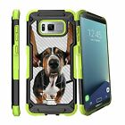 For Samsung Galaxy S8 Plus | S8 Edge Plus G955 (2017) Clip Stand Green Case Cow