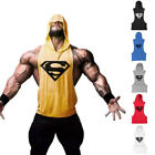 Supermen New Fitness Muscle Hoodies Cotton Sleeveless Stringer Bodybuilding Tees