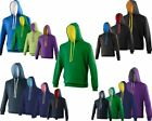 AWDis Varsity Hoodie Contrast Pullover Sports Casual Leisure Work Fit Hooded