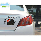 Reflective Decals Babys in car Female baby in the car stickers Warning Tail New