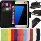 Premium Leather Flip Book Wallet Case Cover For Samsung Galaxy S7 & Free SP