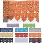 """Lily 8.5""""  Orange Lilac Gray Red BlackVenice Lace Trim sewing notions By Yard"""