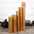 Round Vintage Sugar Tea Coffee Kitchen Storage Canister Natural Bamboo Tube Case