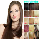 "15""-22"" One Piece 5 Clip In 100% Real Remy Human Hair Extensions Black Blonde"