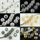 Wholesale Lots Net Mesh Round Ball Big Hole Spacer European Charms Beads 10MM