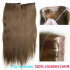 "15-24""HIDDEN HALO INVISIBLE WIRE FLIP IN WEFT 100% REMY HUMAN HAIR EXTENSION 80G"