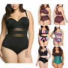Cleaning Women Push Up Padded Plus Size Bikini Set swimsuit High Waist swimwear