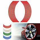 16 Pcs Reflective Motorcycle Motor 18 inch Car Stripe Wheel Decal Tape Sticker