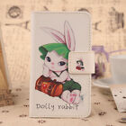1X Lovely PU Flip Wallet Card Leather Protection Case Cover Skin For Smartphone