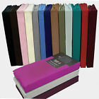 Fitted Sheet Bed Single Double Super King Poly Cotton Mattress Pillow Cover Deep