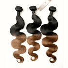 3 Bundles Brazilian Human Hair Emerald Unprocessed Body wave Weft Remy T1B/30 7A
