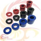 RED BLACK BLUE M8 Anodised Aluminium Spacer - Bonnet Standoff Collar - Stand Off