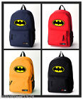 Batman The Dark Knight Backpack Bat Sign Computer School Bag (Multiple Type)