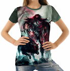 Spear Warrior Next To Black Wolf Womens T-Shirt Tee wb1 acr43839