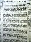 1883 NY newspaper with New York City ST PATRICK'S DAY PARADE described in detail