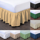 "1 BEDDING DRESSING BED PLEATED SKIRT WITH OPEN CORNERS 14"" INCH DROP SIZE QUEEN image"