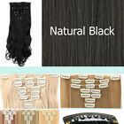 Real Thick Long 8 Pieces Clip In Hair Extensions Multi Colors Women Full Head T2