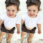 Newborn Toddler Infant Baby Girl Top+Pants+Headband Outfit Set Clothes Bodysuit