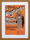 VINTAGE AD VOIGTLANDER CAMERA LENSES GERMANY FRAMED PRINT F97X7721