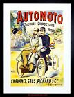 AD MOTOR CYCLE TRICYCLE FRANCE VINTAGE WEIRD FRAMED PRINT F12X2368