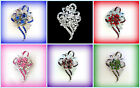 MOTHER OF THE BRIDE GROOM GIFT FOR HER~RHINESTONE FLOWER CORSAGE BROOCH PIN~PICK