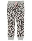 GYMBOREE WEEKEND COZY GRAY LEOPARD SKIN PRINTED SWEATPANTS 6 NWT