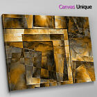 AB1211 gold leaf effect modern Abstract Canvas Wall Art Framed Picture Print