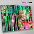 AB1469 green pink glass mosaic Abstract Canvas Wall Art Framed Picture Print