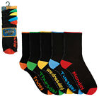 5 Pack Days Of The Week Socks  Mens Size