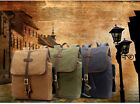 Unisex Canvas Solid Color Student Bags Traveling Backpacks Casual Computer Bags