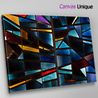 AB1727 blue ystained glass effect Abstract Canvas Wall Art Framed Picture Print