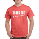 Thank God I'm An Atheist Funny Mens T Shirt Religion Science Atheism Tee Gift