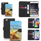 black faux leather wallet case cover for apple iphone models design ref z311