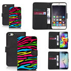 black faux leather wallet case cover for apple iphone models design ref z339