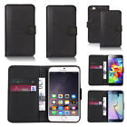 black faux leather wallet case cover for apple iphone models design ref z315