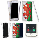 Shockproof 360° Silicone Clear case cover for many mobiles- welsh flag