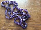 AMETHYST GEMSTONES CHIPS string approx 90cm