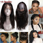 7A 360 Lace Band Frontal Closure Ear TO Ear Human Hair Brizilian Virgin US F135