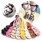 Kyпить Newborn Infant Baby Girl PU Leather High Bandage Sandals Pram Shoes US STOCK на еВаy.соm