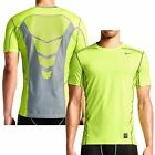 New Nike Mens Pro Combat Hypercool Dri-FIT Max Fitted Training Shirt: Neon Volt